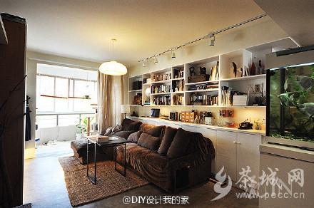 带书架的客厅设计